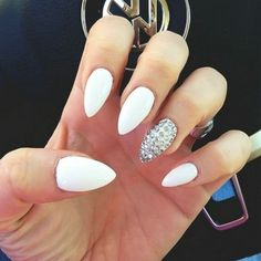 Stiletto Nails with Rhinestones | best white stiletto nail designs stiletto nail designs tumblr black ...