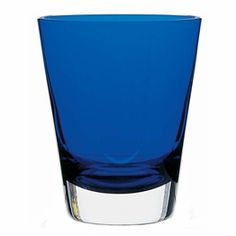 'Mosaique large cobalt tumbler'  The Baccarat Mosaïque tumblers add bold color and a festive spirit to the table. Handcrafted using traditional glassblowing techniques, the tableware has a simple silhouette that is precise and elegant.