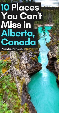 Athabasca Falls in Alberta, Canada! Top things to do and see in Alberta, Canada - Travel interests Cool Places To Visit, Places To Travel, Travel Destinations, Travel Tips, Travel Packing, Shopping Travel, Travel Usa, Vancouver, Fotos Do Canada
