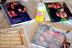 DIY Canvas Photos with Mod Podge |