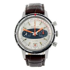 LOT:17 | BREITLING - a gentleman's stainless steel Datora chronograph wrist watch.