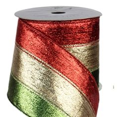 Tri Color SHIMMER Wired Red & Green - 4