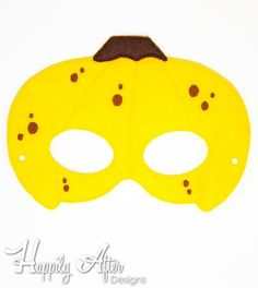 Banana mask in the hoop embroidery design to stitch out a great costume mask with! Load this in the hoop mask embroidery design into your embroidery machine and stitch it out entirely in the hoop from start to finish! Vegetable Costumes, Banana Mask, Dinosaur Mask, Printable Masks, Felt Mask, Mask Template, Embroidery Scissors, Animal Masks, Cute Costumes