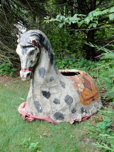 Horse love,I'm saying its one of a kind... Etsy listing at https://www.etsy.com/listing/177312740/antique-paper-mache-horse-costume
