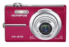 """Olympus FE-370 Digital Camera 8MP 5x Opt Zoom 2.7"""" LCD Red 222510. olympus camera, point and shoot, red, digital camera, like new condition comes with the box, manuals, memory card, and charger."""