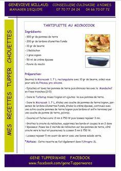 Plat - Tartiflette au microcook - Tupperware