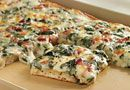 Spinach Carbonara Pizza - Add some chicken if you'd like.  It's so easy and really delicious either way!  Enjoy! Let me know what you think.