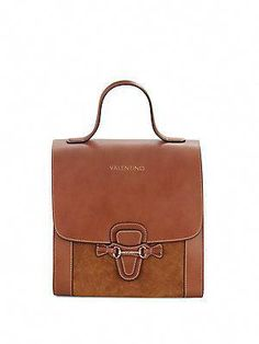7b141bf0b6 Valentino by Mario Valentino Amy Leather   Suede Satchel