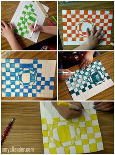 Instructions for an optical illusion art project.  Great for classrooms!