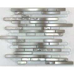 Supreme Tile Slender Linear Mosaic Tile & Reviews | Wayfair Stone Mosaic Tile, Mosaic Glass, Tiles For Sale, Glass Installation, Glass Subway Tile, Feature Tiles, Style Tile, Versailles, Supreme