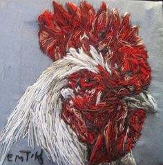 Light Sussex Cockerel Artwork by artyemily on Etsy