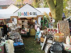 Antiques and collectibles at the Country Living Fair.