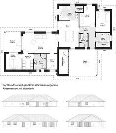 atrium 7 2 winkelbungalow einfamilienhaus neubau massivbau stein auf stein grundrisse haus. Black Bedroom Furniture Sets. Home Design Ideas