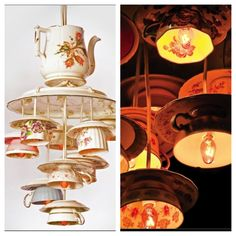 teacup chandelier Lovely!!!