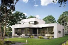 Fertighaus Casaretto, Architektenhaus mit Dachterrasse von Büdenbender