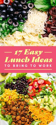 17 Packable Lunch Ideas That'll Actually Fill You Up is part of Pasta lunch - From pasta salads, to aboveaverage sandwiches, to Buddha bowls Lunch Snacks, Lunches And Dinners, Clean Eating Snacks, Lunch Recipes, Healthy Snacks, Healthy Eating, Healthy Recipes, Work Lunches, Lunch Ideas Work