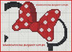 Minnie mouse cross stitch pattern
