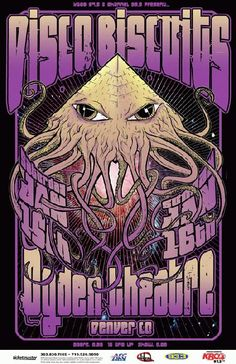 Original concert poster for The Disco Biscuits at The Ogden Theatre in Denver, CO in 2011.  11x17 card stock.