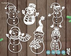 6 Christmas Snowmen svg designs, Snowman, svg Bundle | Snow Man 6 svg cut files | Christmas cut file svg | Silhouette | vinyl decal Winter | Cricut For personal and commercial use. -------------------------------------------------------------------------------------------------- Other BIG SVG Bundles are also available! ❆ Christmas Trees SET 2 : https://www.etsy.com/uk/listing/557135129/8-christmas-trees-svg-bundle-set-2-8-svg ❆ Christmas Monogram Bundle SET 1:...