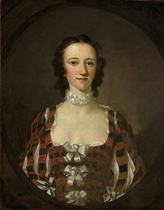 Flora Macdonald [Fionnghal nighean Raghnaill 'ic Aonghais Òig], (1722-1790), 1747, by Richard Wilson. Jacobite heroine. She helped Prince Charles Edward Stuart, the Young Pretender, escape by boat to Skye, disguising him as her maidservant. Imprisoned in London, she was released in 1747 and commissioned this portrait which she gave to the captain of the ship which had brought her south, in thanks for the kindness he had shown her.