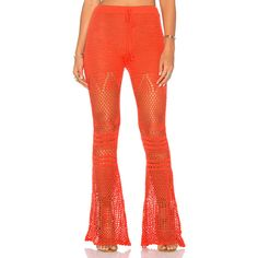 MINKPINK Mixed Messages Pant ($130) ❤ liked on Polyvore featuring pants, elastic pants, minkpink, red trousers, minkpink pants and red pants