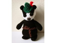 Amigurumi Pattern Badger  PDF Crochet Pattern by MysteriousCats, £3.00