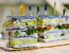 veggie sushi napoleon - my mouth is watering!!! #recipe