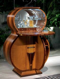 Cherry wood bar cabinet Pois Collection by Carpanelli Classic from archi products