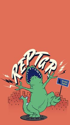 Cartoon Wallpaper Iphone, Iphone Background Wallpaper, Aesthetic Iphone Wallpaper, Screen Wallpaper, Wallpaper S, Aesthetic Wallpapers, Wallpapers Games, Cute Wallpapers, Reptar Rugrats