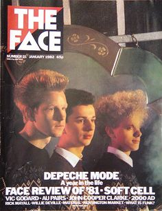 The Face, Depeche Mode 1982- I was only 13 when I bought this, seems like a lifetime ago!