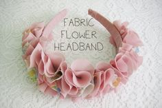 Wear The Canvas: DIY Fri: Fabric Flower Headband