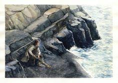 Silent he sat by Filat.deviantart.com on @deviantART  Voronwe by the sea.