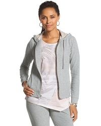 Zenergy Knit Collection Coverstitch Hooded Jacket #chicos