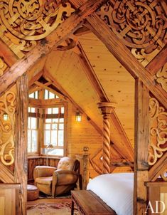 decoration resplendent wood stove in log cabin with wooden carved pillars ~ log cabin interior