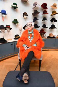 Her hat collection could take up a large closet.