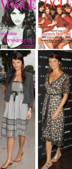 Helena Christensen - she was one of the original supermodels of the late 80's. She is great in front of the camera and she is also a respected photographer...with a really fantastic sense of style!