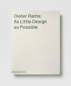 When it comes to the design of consumer electronics there is no better than Dieter Rams. Period. His influence on the world (especially of the Apple variety) is unmistakable. #best #design #history