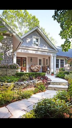 Landscape Lighting Tips Add the finishing touch to your exterior spaces with well-planned outdoor landscape lighting. Add the finishing touch to your exterior spaces with well-planned outdoor landscape lighting. Exterior Paint, Exterior Design, Interior And Exterior, Stone Exterior, Exterior Colors, Ranch Exterior, Cafe Exterior, Colonial Exterior, Craftsman Exterior
