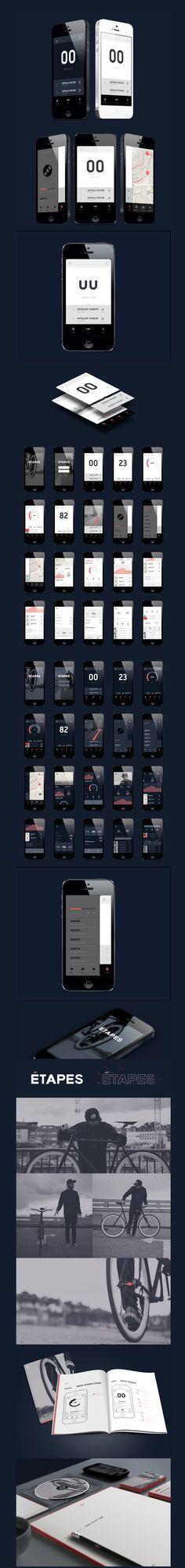 http://www.behance.net/gallery/etapes-App/9442171 #ios #apps #mobiledesign #design #interactive