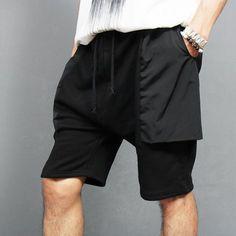 Street Fashion Jersey Big Pocket Short Sweatpants