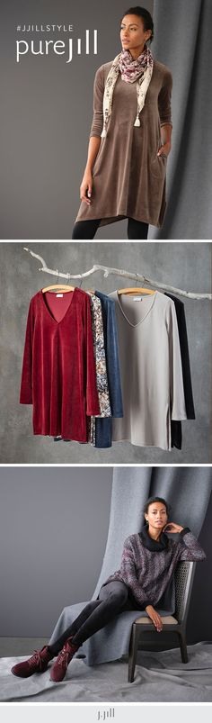Relax with lush softness, simple shapes and thoughtfully designed styles. Everyday Casual Outfits, Ankle Length Leggings, Boat Neck Tops, Knit Boots, Cowl Neck Top, Drawstring Pants, Knit Jacket, Simple Shapes