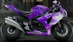 Moto Ninja, Ninja Motorcycle, Motorcycle Decals, Brat Bike, Scrambler Motorcycle, Motorcycle Tips, Motorcycle Quotes, Purple Motorcycle, Motorcycle Style