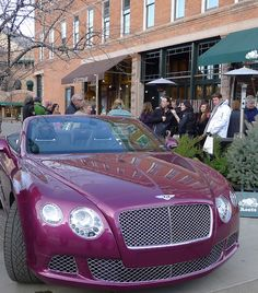 Bentley. This will be sitting in my driveway. Dream car right here.