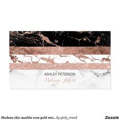 Shop Modern chic marble rose gold stripes Makeup Business Card created by girly_trend. Makeup Business Cards, Business Cards Layout, Gold Business Card, Simple Business Cards, Nail Logo, Mobile Beauty, Rose Gold Makeup, Business Hairstyles, Gold Stripes