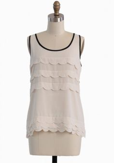 Scalloped Sweetheart Top
