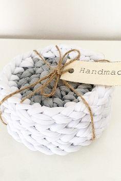 Crochet | T-shirt yarn | Handmade | Coaster