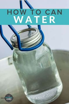 The simple task of Canning Water is great for emergency preparedness, power outages, or when you need access to sanitized water. Learning how to can water is a low-cost way to supplement your family's drinking water needs. Canning Rack, Canning Tips, Home Canning, Canning Recipes, Canning Pressure Cooker, Pressure Cooker Chicken, Pressure Cooker Recipes, Emergency Food Supply, Emergency Preparedness