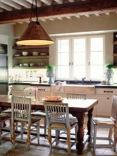 Love the natural light in this space.    Spaces Country Cottage Kitchen Designs Design, Pictures, Remodel, Decor and Ideas - page 7