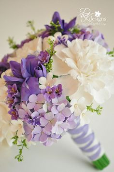 Flower asuka bridal bouquet +++ Ramo de novia foto lila blanco