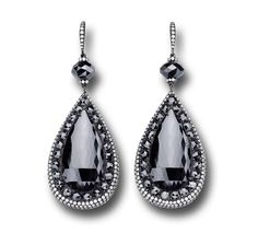 Martin Katz Black Diamond Earrings